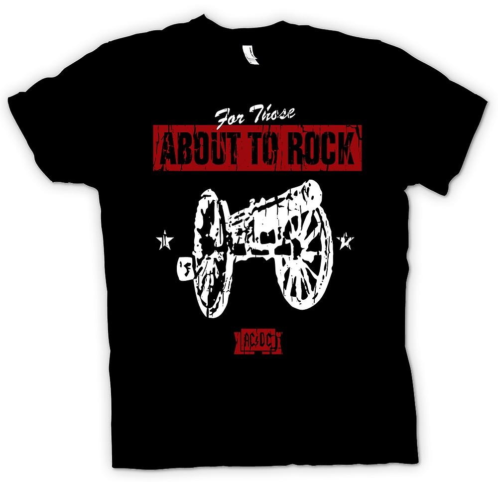 Hommes T-shirt - AC / DC - For Those About To Rock