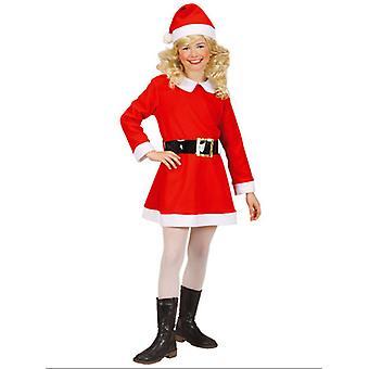 Franela chica Santa (vestido cinturón sombrero) para niños
