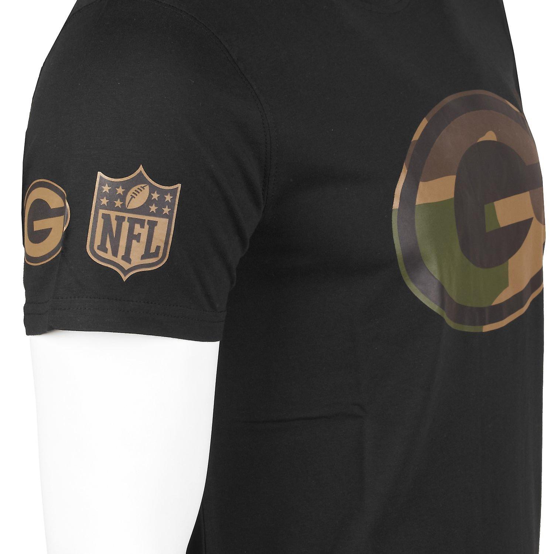 New Era Camo Shirt NFL Green Bay Packers schwarz