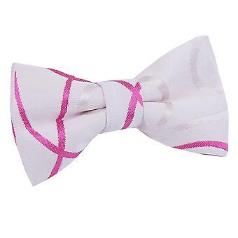 Ivoor & warm roze Scroll vooraf gebonden strikje voor jongens