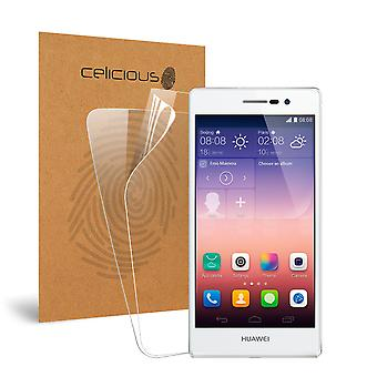 Celicious Vivid Invisible Glossy HD Screen Protector Film Compatible with Huawei Ascend P7 [Pack of 2]