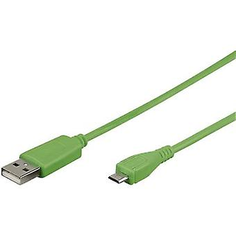 Goobay USB 2.0 Cable [1x USB 2.0 connector A - 1x USB 2.0 connector Micro B] 0.95 m Green
