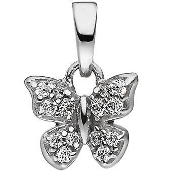 Children trailer Butterfly 925 sterling silver with cubic zirconia child trailer