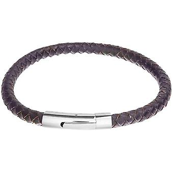David Van Hagen Leather Bracelet - Dark Brown