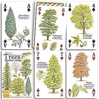 Noord-Amerikaanse bomen Set van 52 speelkaarten (+ Jokers)