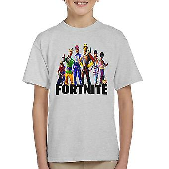 Fornite Holiday Skins On Characters Kid's T-Shirt