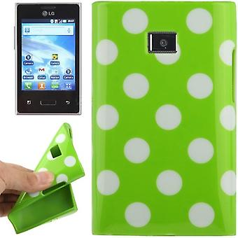 Skyddande fall TPU punkterna i fallet för mobil LG Optimus L3 / E400