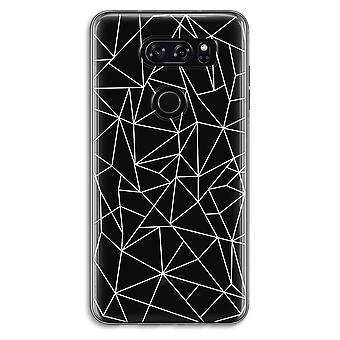 LG V30 Transparent fodral (Soft) - geometriska linjer vit
