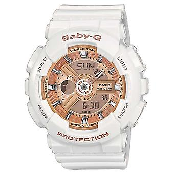 Casio BA110-7A1ER Ladies Baby-G Combination Resin Watches with 5 Alarms