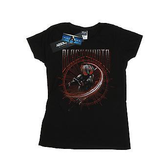 DC Comics Women's Aquaman Black Manta Circle T-Shirt