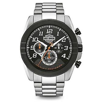 Harley Davidson Mens Chronograph | Black Dial | Two Tone Stainless Steel 76B175 Watch