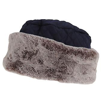 Tom Franks Womens/Ladies Quilted Winter Hat With Faux Fur