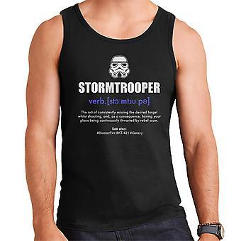 Original Stormtrooper Wörterbuch Definition Herren Weste