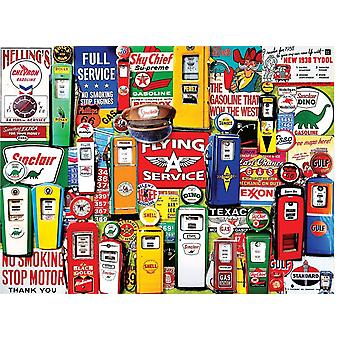 Gas Pumps 550 Piece Jigsaw Puzzle 610Mm X 450Mm