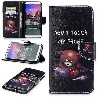 Voor de Samsung Galaxy A7 A750F 2018 kunstleer zakboek pouch motief 25 mouw case beschermhoes nieuw