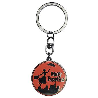 Mary of Poppins-Mary of Poppins key chain, silver, metal key chains.