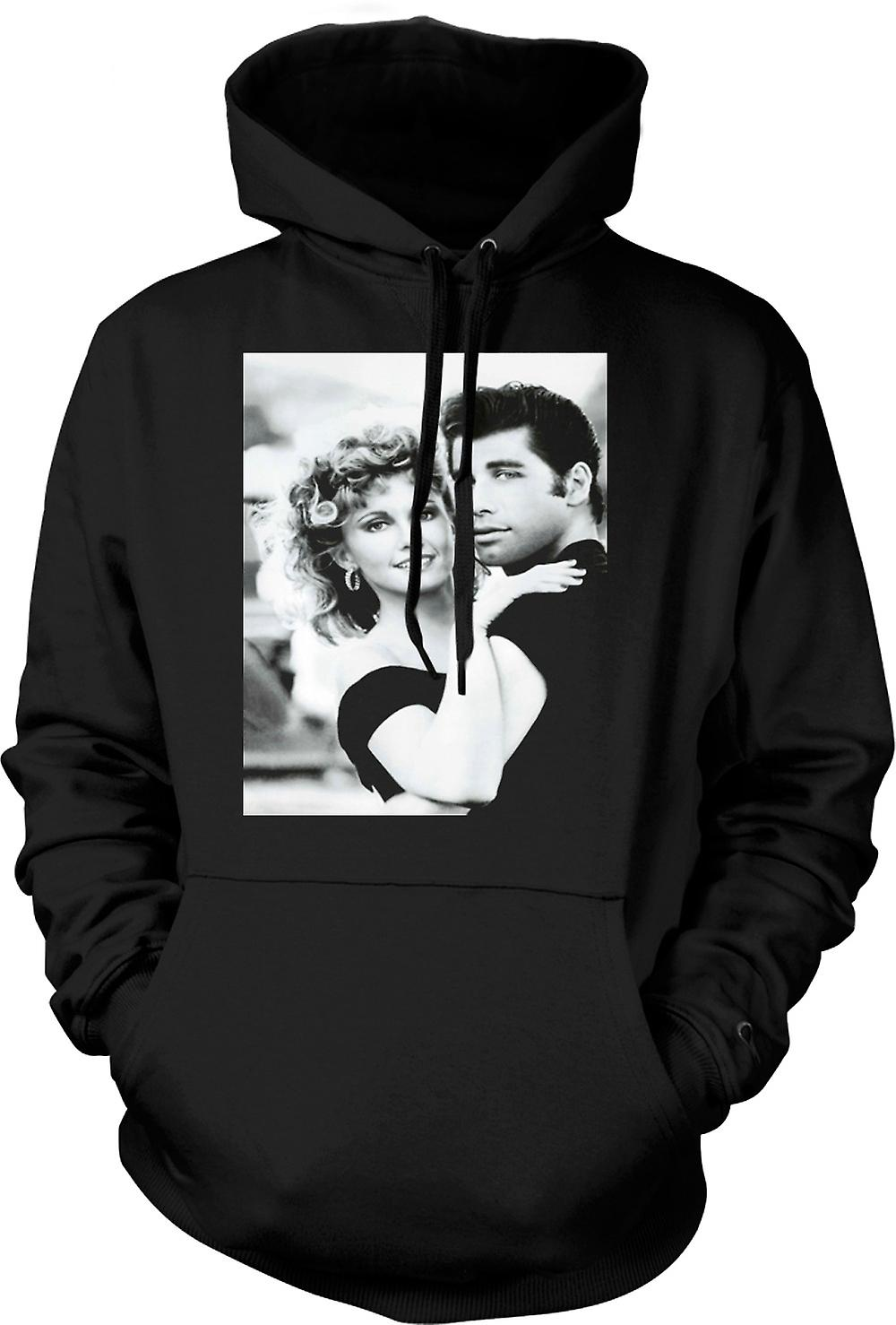 Mens Hoodie - Grease - Sandy And Danny