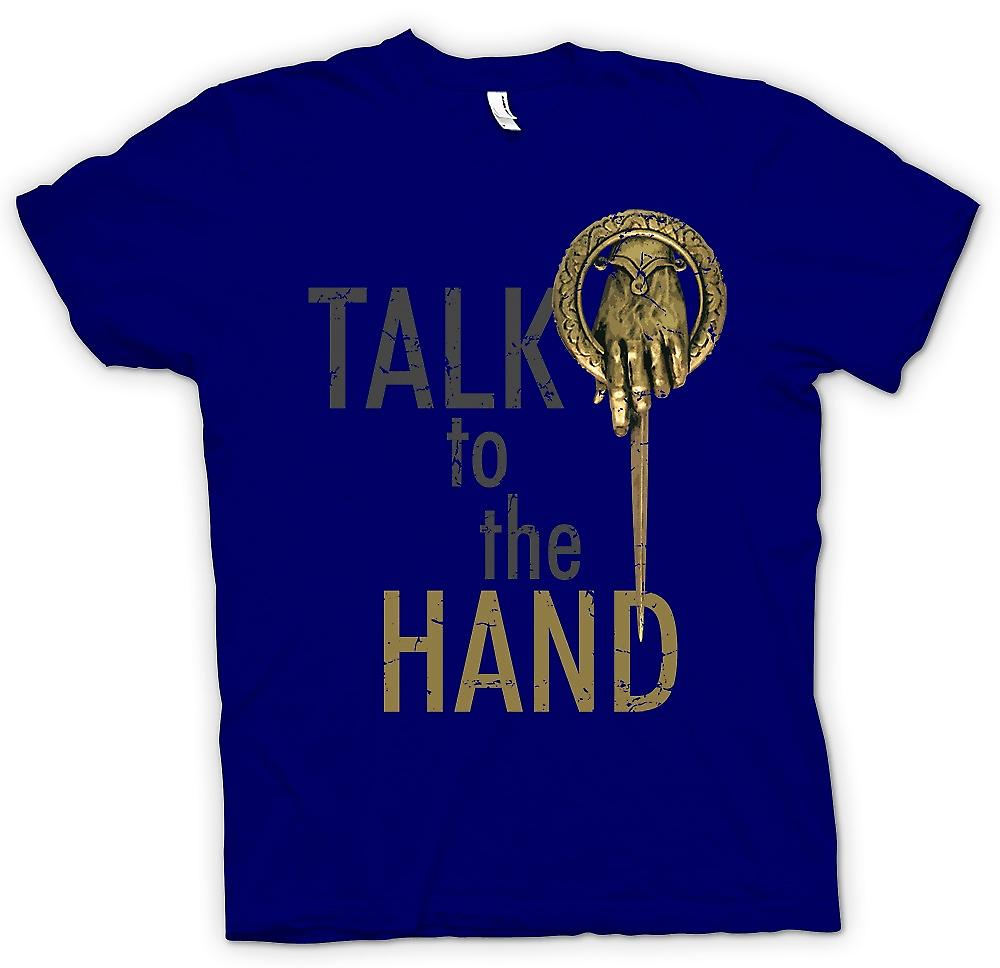 Mens t-shirt - Talk alla mano - Funny