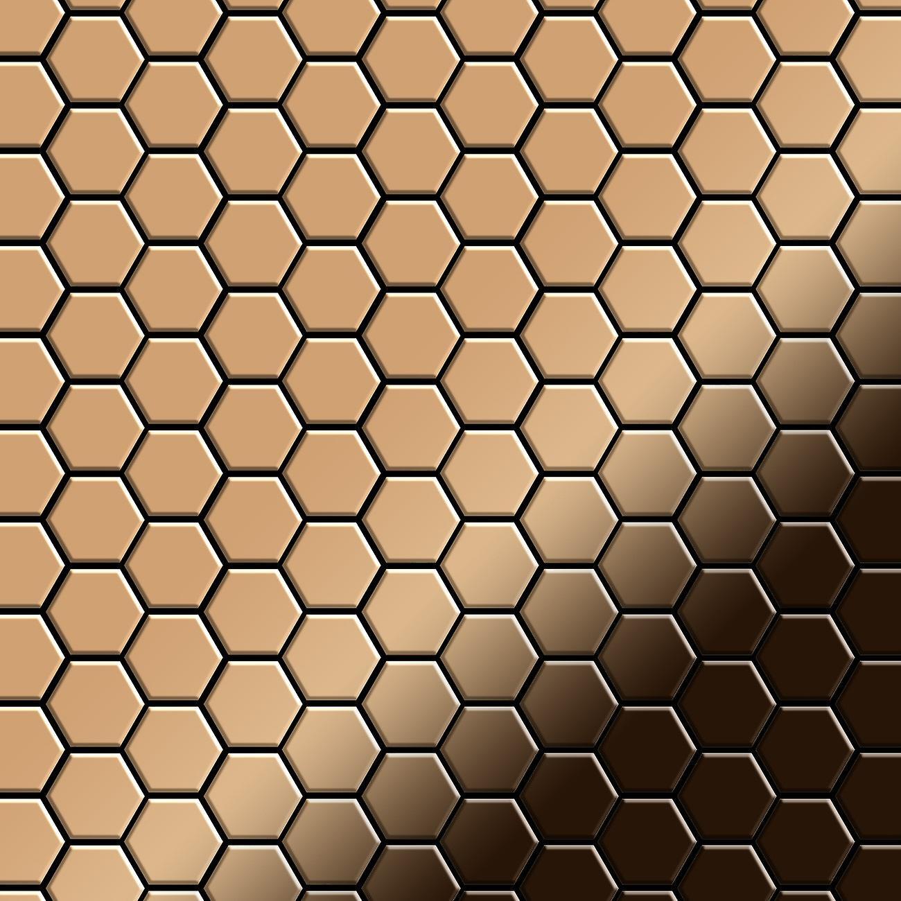Mosaïque en métal massif Titane ALLOY Honey-Ti-AM