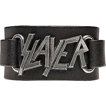 Slayer Logo skórzane wriststrap (ro)