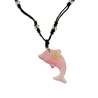 The Olivia Collection Dolphin Shaped Sea Life Necklace with REAL Starfish