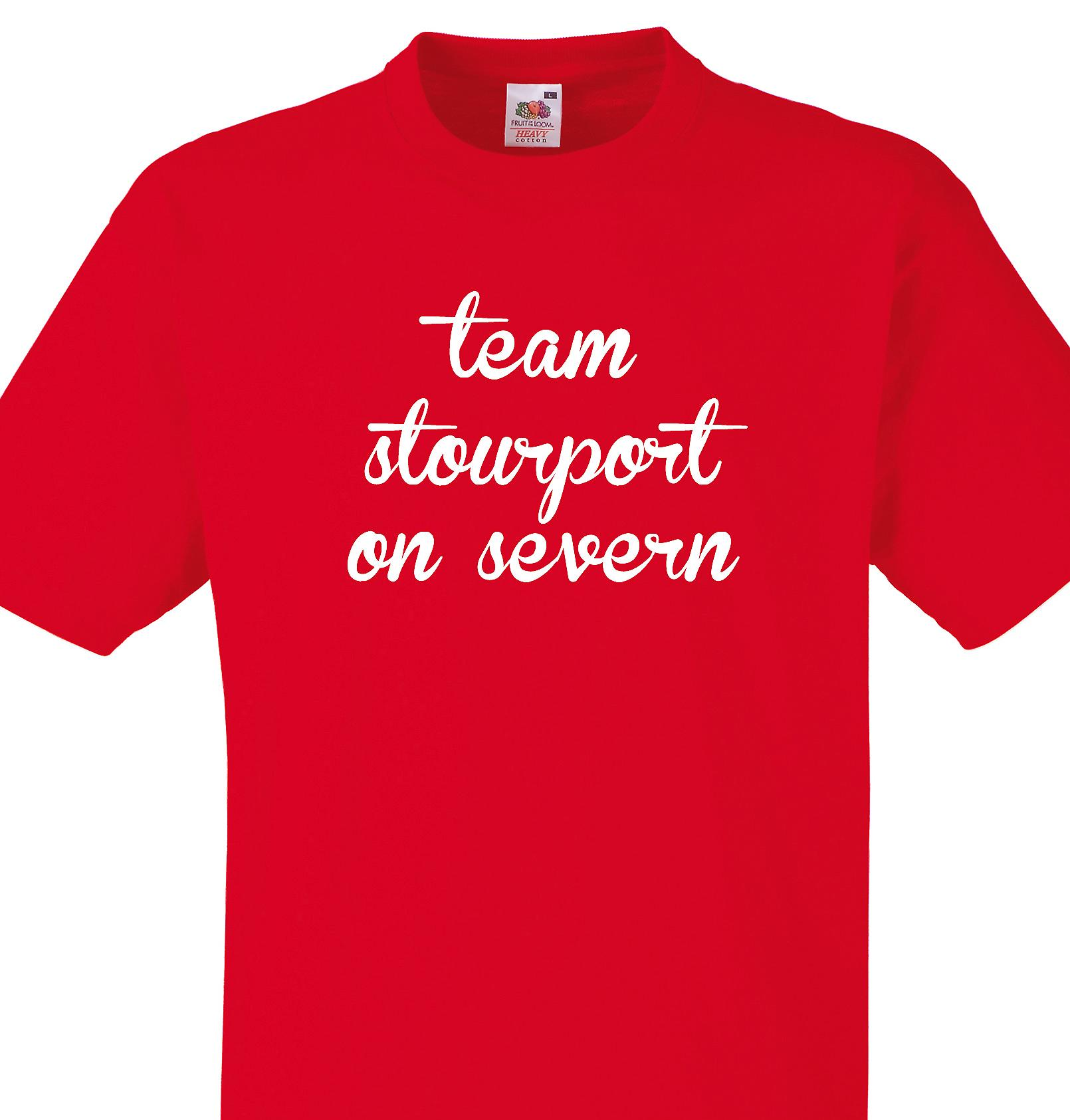 Team Stourport on severn Red T shirt