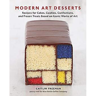 Art moderne Desserts: Recettes de gâteaux, biscuits, confiseries et friandises congelées issus des œuvres emblématiques