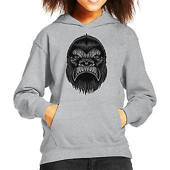 Gorilla Head Kid's Hooded Sweatshirt