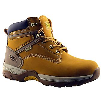 Mens Ankle Boots Safety Steel Toe Waterproof Leather Lace Up Work Shoes
