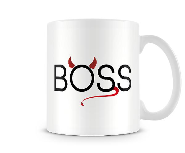 Boss Devil Horns Tail Mug