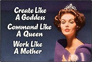 Create Like A Goddess... funny fridge magnet