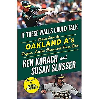 If These Walls Could Talk:� Oakland A's: Stories from the Oakland A's Dugout, Locker Room, and Press Box