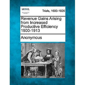 Inntekter gevinster som følge av produktiv effektivisering 19001913 av anonym