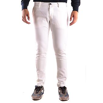 Stone Island White Cotton Pants