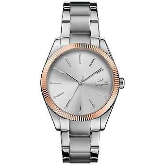 Lacoste Womens Parisienne Stainless Steel Bracelet Silver Dial 2001082 Watch