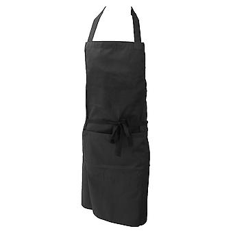 Dennys Ladies/Womens Polycotton Bib Workwear Apron With Pocket (Pack of 2)