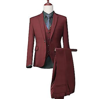 Allthemen Men's High-End Fashion Business 3-Piece Suits Blazer Veat Trousers