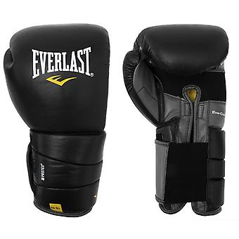 Everlast Leather Pro 3 EVERCOOL EVERDRI Closed Cell Foam Leather Boxing Gloves