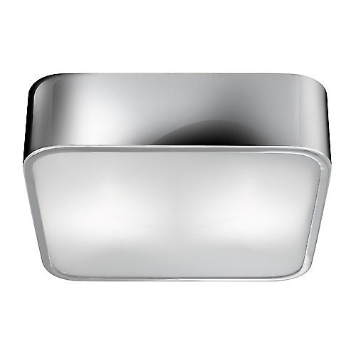 Searchlight 1030-30CC Square Contemporary Style Chrome Flush Ceiling Light