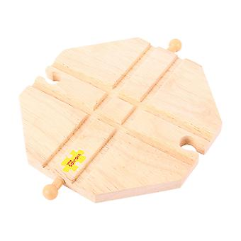 Bigjigs Rail Wooden 4 Way Crossing Plate Train Track Railway Accessories