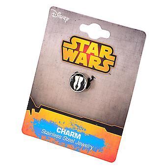Stainless Steel Star Wars Jedi Order Symbol Bead Charm
