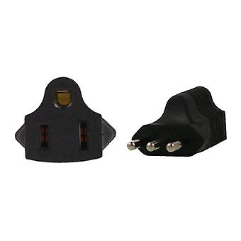 US 3 Pin To Italy 3 Pin Plug Adapter