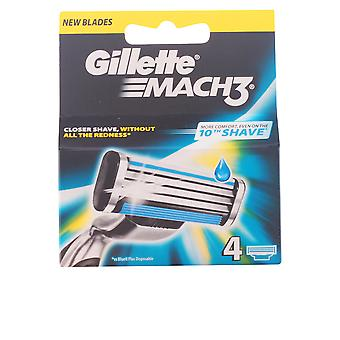 Gillette Mach 3 Cargador 4 Recambios Mens New Sealed Boxed