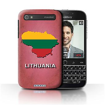 STUFF4 Case/Cover for Blackberry Classic/Q20/Lithuania/Lithuanian/Flag Nations