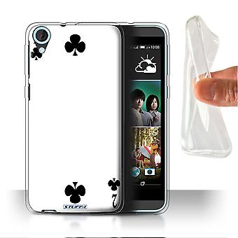 STUFF4 Gel/TPU Case/Cover for HTC Desire 820s Dual/2 of Clubs/Playing Cards