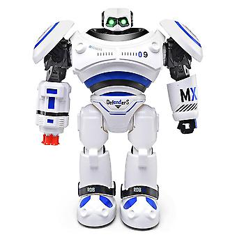 Defenders infrared control robot rtr programmable movement / missile shooting / sliding walking dancing mode (blue)