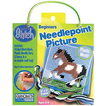 Horse Learn To Stitch Needlepoint Kit 6