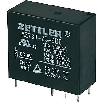 Zettler Electronics AZ733-2C-18DE Miniature PCB Mount Power Relay 18Vdc 2 CO, DPDT