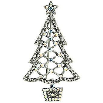 Butler og Wilson skåret ud Crystal Christmas Tree broche