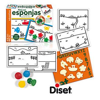 Diset Game Coloring: Paint With Sponges